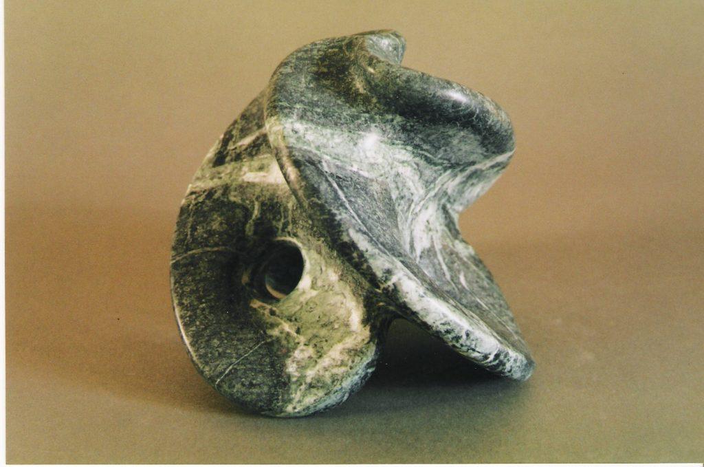 Stone flower 12 / Green marble